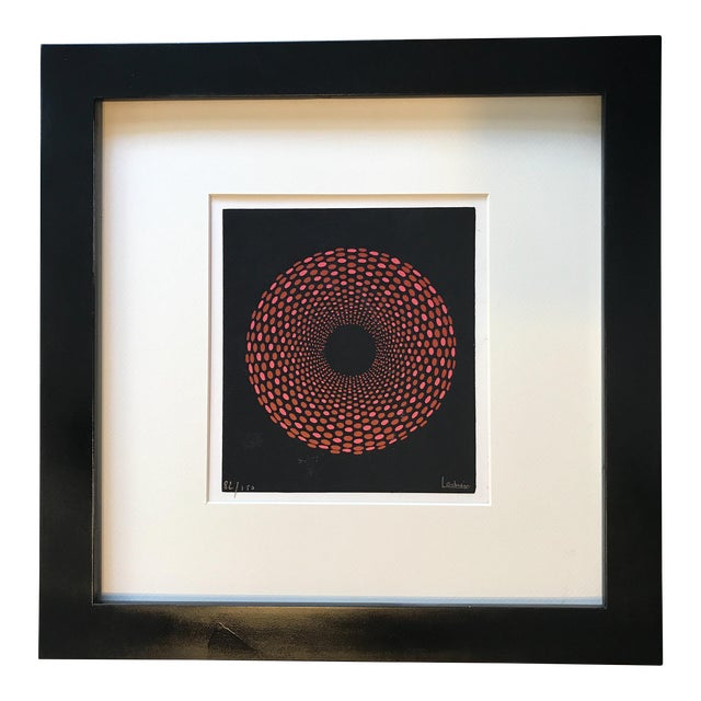 French Geometric Mid-Century Signed Print - Image 1 of 7