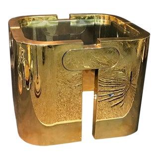 Amazing Golden Bronze Modernist Puzzle Table For Sale