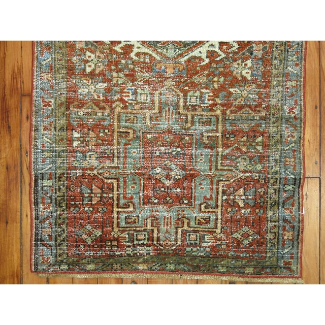 """Antique Persian Heriz Rug - 2'1"""" x 3'9"""" - Image 4 of 5"""