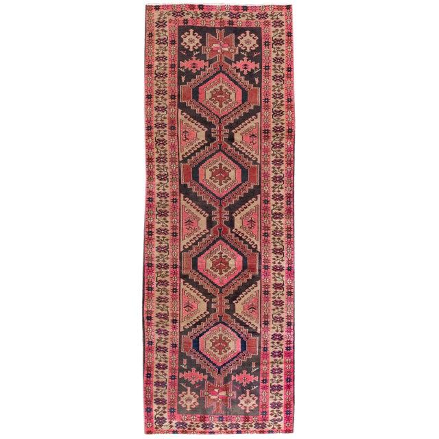 "Vintage Persian Heriz Rug, 3'8"" X 10'9"" - Image 1 of 8"