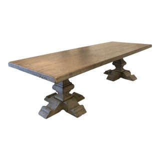 Club Cu Custom Elm Dining Table For Sale