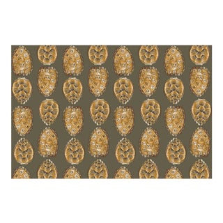 Turtle Shell Dark Olive Linen Cotton Fabric, 6 Yards For Sale