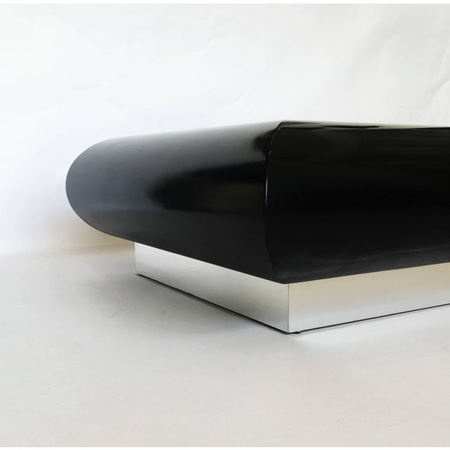Mid-Century Modern Spectacular Karl Springer Lacquer Coffee Table For Sale - Image 3 of 10