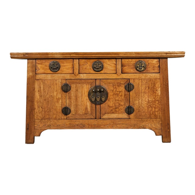 19th C. Chinese Elm Sideboard For Sale