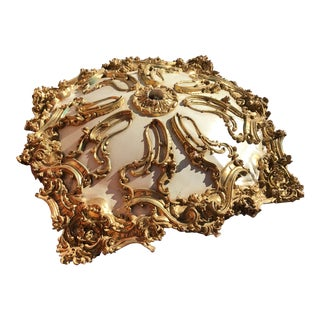 Modern Mohammad Hadid Estate Gold Leaf Ceiling Medallion For Sale