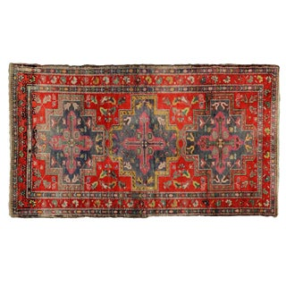 "Traditional Turkish Wool Oushak Rug - 4'5"" X 7'9"" For Sale"
