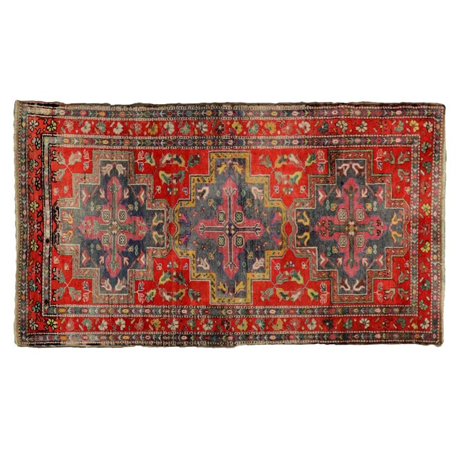 """Traditional Turkish Wool Oushak Rug - 4'5"""" X 7'9"""" For Sale"""