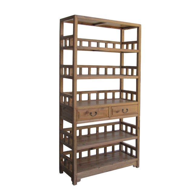 Chinese Camphor Wood Simple Display Curio Bookcase - Image 2 of 5