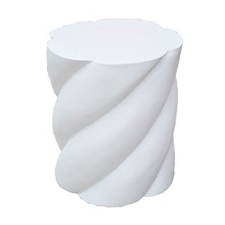 Molded Plaster Spiral Form Pedestal For Sale