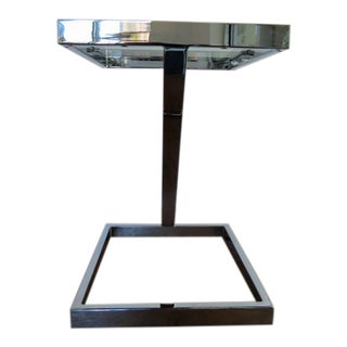 1960s Mid Century Modern Milo Baughman for Directional Chrome Side Table For Sale