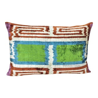 Silk Velvet Down Feather Lumbar Pillow For Sale