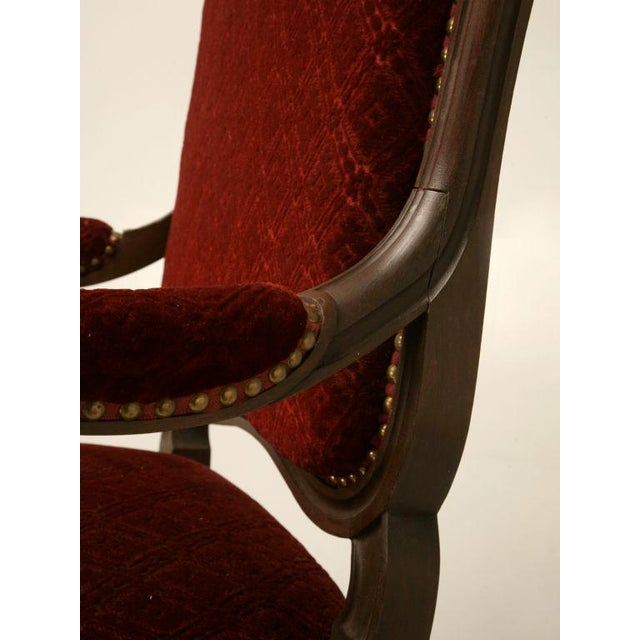 Carved Antique French Louis XV Walnut Fauteuils - A Pair For Sale - Image 10 of 10
