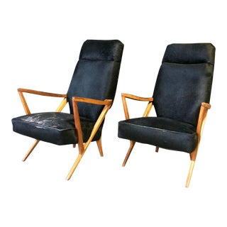 1930's Italian Art Deco Lounge Chairs - a Pair For Sale