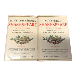 Vintage Shakespeare Books - 2 Volume Set For Sale