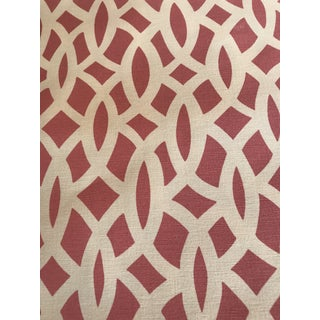 Schumacher Chain Link Cerise Fabric - 3.5 Yards Preview