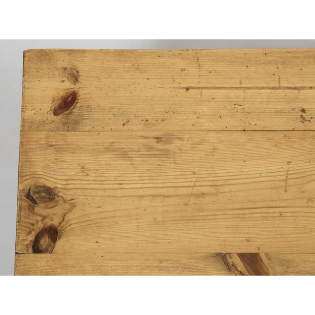 Wood French Pine Farm Table in a Beeswax Finish For Sale - Image 7 of 11