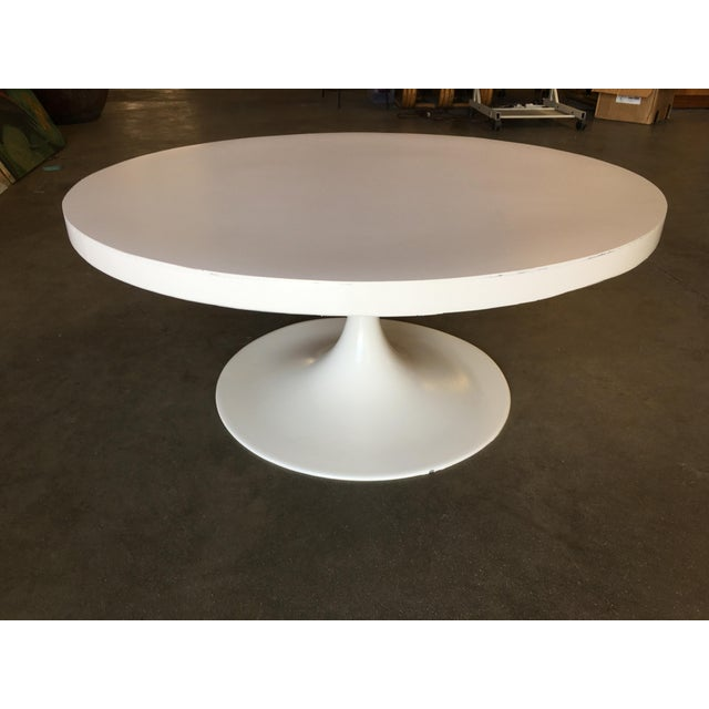 """Contemporary Heavy Top 36"""" Inch Tulip Coffee Table in the Saarinen/Knoll Style For Sale - Image 3 of 10"""
