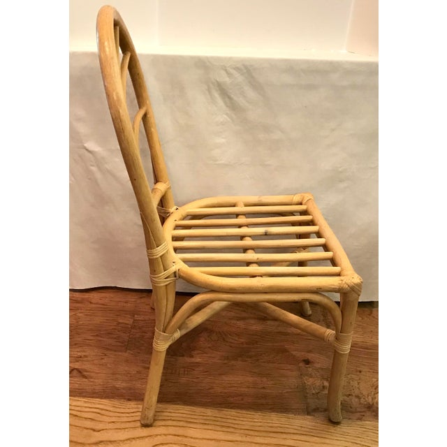 Vintage Mid Century Bamboo Chair For Sale In Dallas - Image 6 of 10