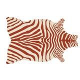 """Image of Loloi Rugs Zadie Rug, Red / Ivory - 5'0""""x7'6"""" For Sale"""