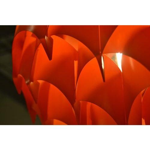 Orange Mid-Century Pendant, France For Sale - Image 8 of 11