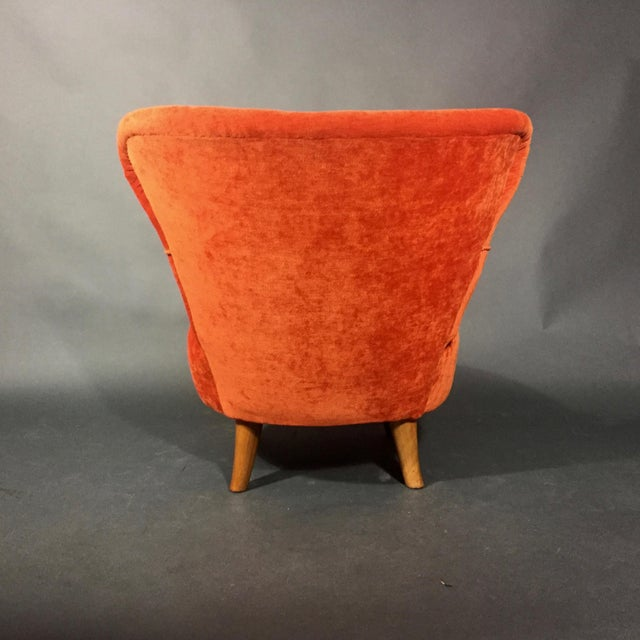 Beech Easy Chair by Oskar Bernströms Möbelfabrik, Sweden 1950s For Sale - Image 7 of 10