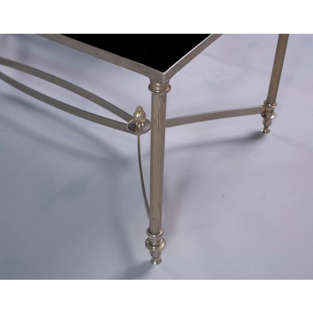 Pair French Black Glass Cocktail Tables For Sale In Detroit - Image 6 of 11
