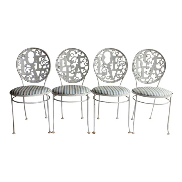 1960's Vintage Woodard Garden Chairs- Set of 4 For Sale