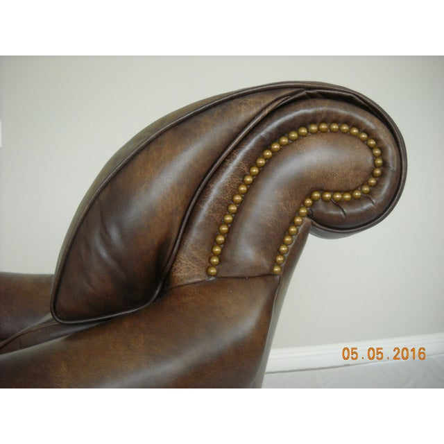 Custom Leather Chairs by Hancock & Moore - A Pair - Image 8 of 10