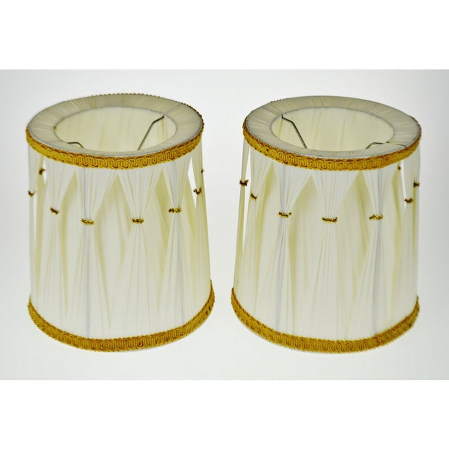 Vintage Hollywood Regency Drum Lamp Shades - A Pair - Image 3 of 6
