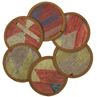 Kilim Coasters Set of 6 | Koltukçu For Sale