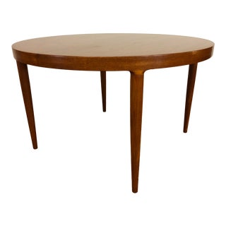 Danish Teak Round to Oval Dining Table Imported by Moreddi For Sale