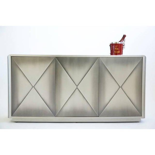 Design Institute of America Painted Steel Buffet For Sale - Image 9 of 10