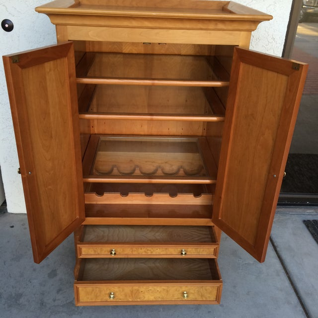 Burlwood Bar Cabinet - Image 8 of 8