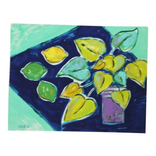 Foliage Still Life Painting by Cleo Plowden For Sale