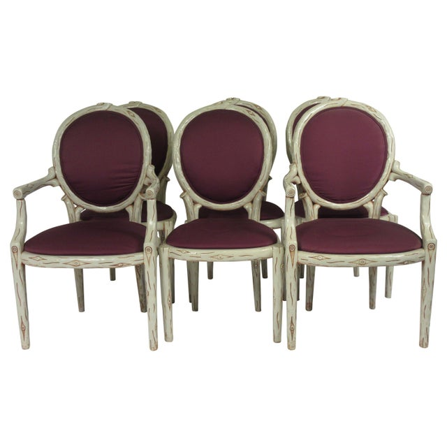 1960s Vintage Faux Bois Dining Chairs- Set of 6 For Sale - Image 13 of 13
