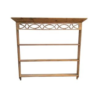19th Century Rustic Welsh Pine Wall Etagere For Sale
