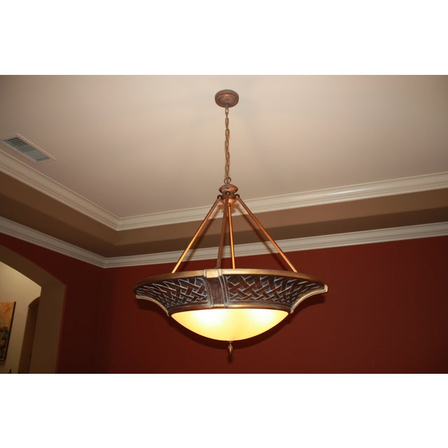 Large Tangier Conection Golden Bronze Chandelier - Image 2 of 5