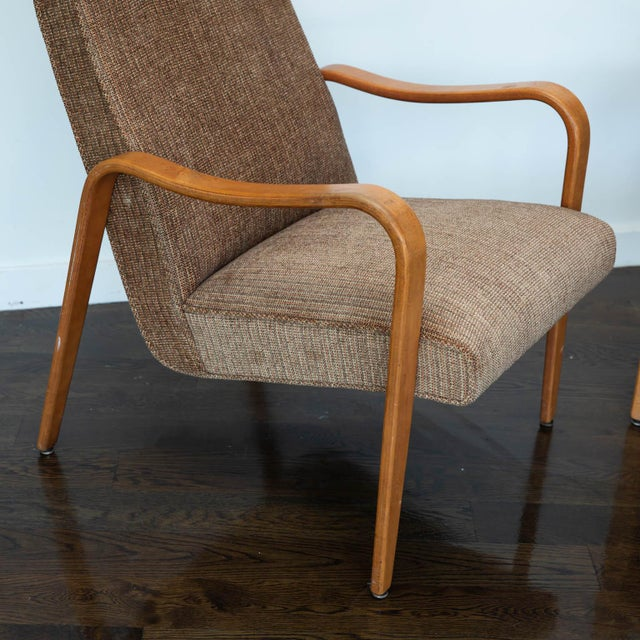 Bentwood Pair of Thonet Bentwood Armchairs For Sale - Image 7 of 12