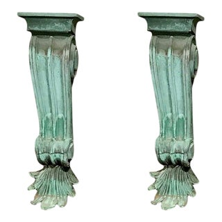 19th Century Large Architectural Copper Corbels For Sale