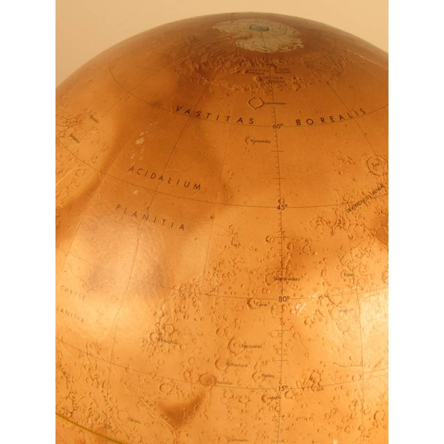 Wood 1973 Denoyer-Geppert Rare First Edition Mariner 9 Mars Globe For Sale - Image 7 of 9