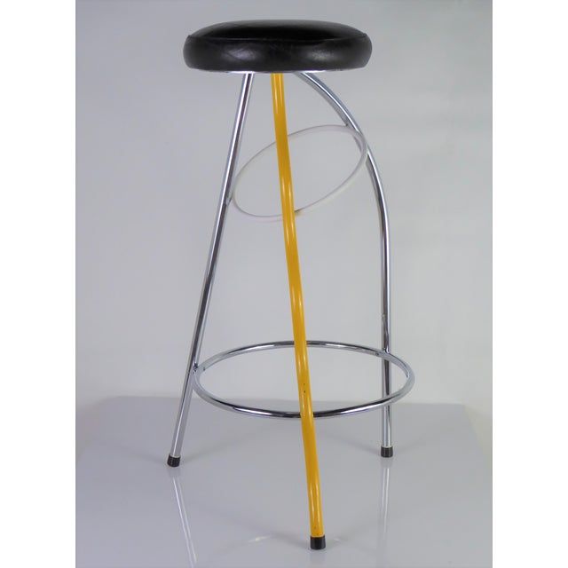 Memphis Memphis Duplex Stool by Javier Mariscal Spain, Late 1970s For Sale - Image 3 of 12