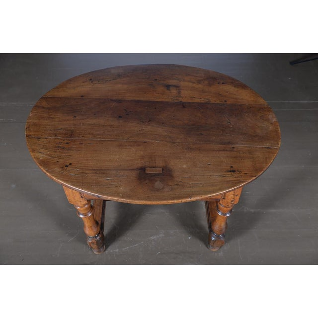 18th Century Fruitwood Oval Center Table - Image 7 of 10
