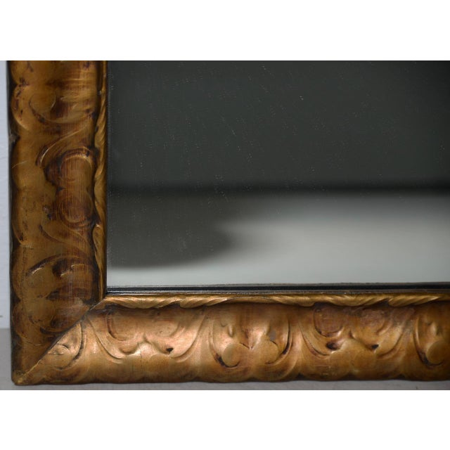 Art Nouveau Carved & Gilded Frame with Mirror C. 1890 to 1910 For Sale In San Francisco - Image 6 of 8