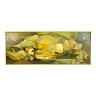 1960s Abstract Expressionist Turtle Oil Painting on Masonite Signed Don Brown For Sale