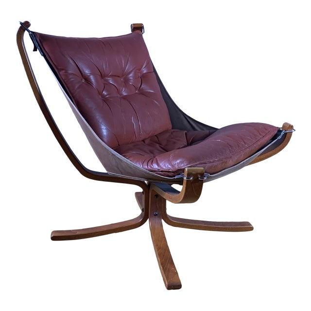 """Sigurd Ressell Low Back """"Falcon"""" Chair, 1970s, Norway For Sale"""