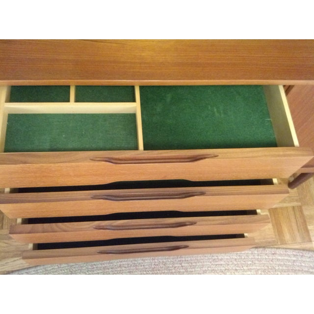 Mid-Century Danish Teak Credenza with Hutch - Image 7 of 7