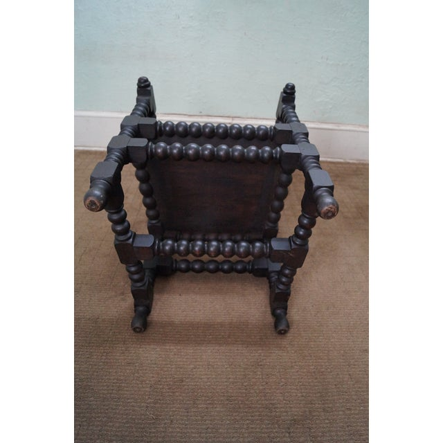19th Century Solid Walnut Spool Turned Arm Chair For Sale - Image 10 of 10