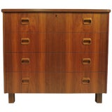 Image of Mid-Century Danish Modern Teak Chest of Drawers Dresser Smi Sweden For Sale