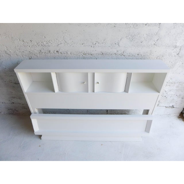 Mid-Century Painted White Full Bed - Image 2 of 6