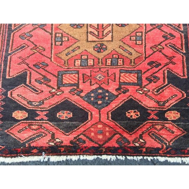 "Vintage Persian Zanjan Area Rug - 3'4""x4'6"" - Image 3 of 8"